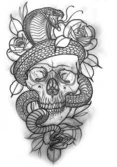- With the Risen Serpent and the Roses & Leaves – K # Risen # Sheets Serpent tattoo Skull Tattoo Design, Tattoo Design Drawings, Skull Tattoos, Tattoo Sketches, Tattoo Designs Men, Body Art Tattoos, Sleeve Tattoos, Cool Tattoos, Tattoo Sleeves