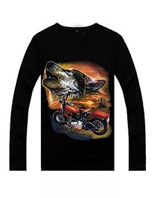 COSIVIA Skull print image Fashion Style Men's Long-sleeved T-shirts X-Large. Color: Black. Material:100% Cotton. Size: S,M,L,XL,XXL. Short-sleeved T-shirts. Occasion: night club, party,Hip-Hop.