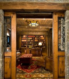 A man cave/office. A real man cave needs a large TV, possibly a pool table, rack for guns, bows & arrows, fishing rods and probably a bar. I like it anyway!