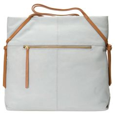 London Leather Tote in Gray