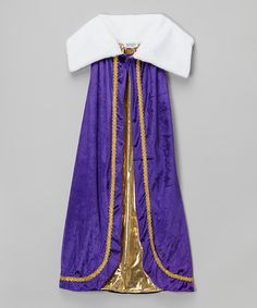 Look what I found on #zulily! Purple Deluxe Royal Cape - Kids #zulilyfinds