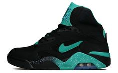 8bf4471407d Preview Nike Air Force 180 Black Atomic Teal 90s Basketball Shoes