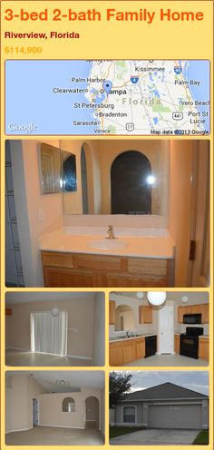 3-bed 2-bath Family Home in Riverview, Florida ►$114,900 #PropertyForSale #RealEstate #Florida http://florida-magic.com/properties/80198-family-home-for-sale-in-riverview-florida-with-3-bedroom-2-bathroom