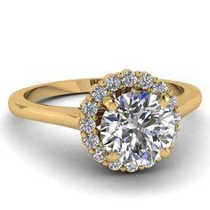 Cheap Yellow Gold Diamond Engagement Rings