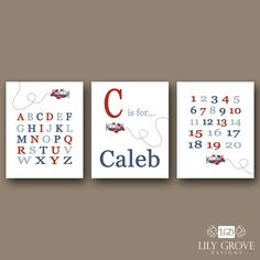 Airplane A Letter is for a Name  Wall Art  by lilygrovedesigns, $5.00