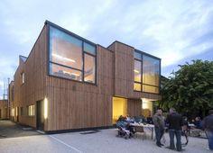 Recepción Ablon-Sur-Seine y Centro de Ocio by Nomade Architects (Ablon-sur-Seine, France) #architecture