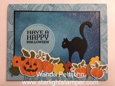 My Creative Corner!: Halloween Card, September 2020 Paper Pumpkin Kit Pumpkin Uses, Paper Pumpkin, Halloween Cards, Happy Halloween, Your Sky, Some Nights, Lots Of Cats, Wink Of Stella, Black Sharpie