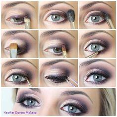Prepare for your big night with beautiful makeueye makeup p design. Plum Eyeshadow, Copper Eyeshadow, Makeup Tips, Beauty Makeup, Hair Beauty, Makeup Tutorials, Dress Makeup, Hair Makeup, Wedding Eye Makeup