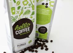 lovely package hello 30 Stimulating & Creative Coffee Packaging Designs Saved on April 2012 am Web Design, Label Design, Food Design, Branding Design, Graphic Design, Package Design, Modern Design, Design Ideas, Simple Packaging