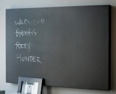 Urban Metal Blackboard  (HC4142) $50 Gallery wrapped, frameless 42W x 28H x 2D Could put Riverwatch decal on this.