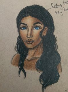 Amani Al'Hiza sketch from the Rebel of the Sands series (Rebel of the sands/Traitor to the throne) Drawn with Faber Castell polychromos pencils on strathmore toned tan paper.