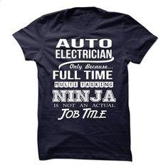 AUTO-ELECTRICIAN - Job title - #teacher shirt #funny tshirt. SIMILAR ITEMS => https://www.sunfrog.com/No-Category/AUTO-ELECTRICIAN--Job-title.html?68278