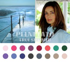True Summer (Cool Summer) color palette #coloranalysis