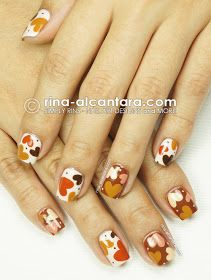 Hearts for Spring Nail Art Design
