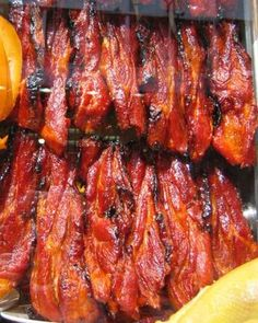 "Originally from southeastern China, char siu barbecue is now a favorite all over Asia. The name translates as ""fork-roasted,"" and describes the method of hanging strips of marinated meat on forked skewers and roasting them in an oven or over an open fire."