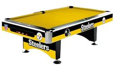 Pittsburgh STEELERS Pool table - Cool ! Oh man my favorite team and hobby together in one....