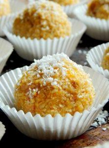 Kokosovo-marhuľové guľky