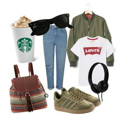 """Untitled #7"" by kindushijv on Polyvore featuring Miss Selfridge, Gap, Levi's, adidas Originals, The Sak, Ray-Ban and Skullcandy"