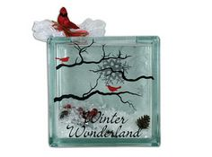 25 Days of Christmas: Day 4- Winter Wonderland Glass Block by @Crafts Direct.
