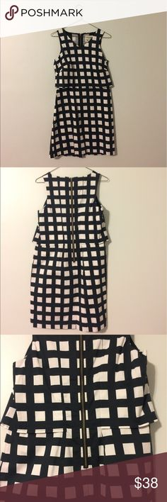 Anthro Tabitha Gridway shiftdress Chic Anthro sundress with bold graphic pattern. Overlay top (see photos). 100% cotton. EUC; worn 2-3 times. Happy to provide measurements, just let me know! Anthropologie Dresses