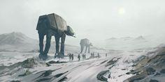 Star Wars - Hoth by QuintusCassius. #StarWars #Art #gosstudio .★ We recommend Gift Shop: http://www.zazzle.com/vintagestylestudio ★