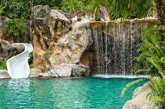Luce in piscina cascata - Pesquisa Google