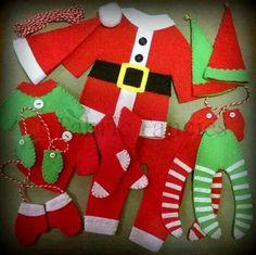 Santa garland.