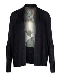 Opulent bloom printed wrap - Black | Sweaters | Ted Baker