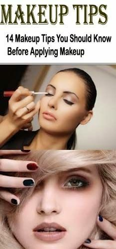 14 Make-up Tips You Should Know Before Applying Makeup