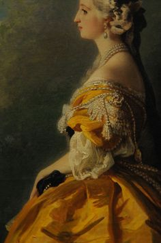 Eugénie de Montijo detail (1854) by Franz Xaver Winterhalter