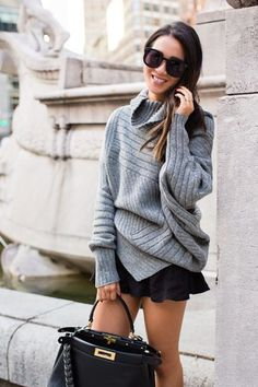 Sweater Weather :: Draped turtleneck & Autumn boots