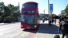 London Buses Route 15 Operated by Stagecoach London from Bow (BW) Garage Wrightbus New Routemaster LTZ1393 LT393 Filmed on 10th September 2015