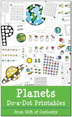 19 pages of free Planets Do-a-Dot Printables for kids ages 2-6. This pack has great graphics and is perfect for kids who are learning about our solar system! || Gift of Curiosity