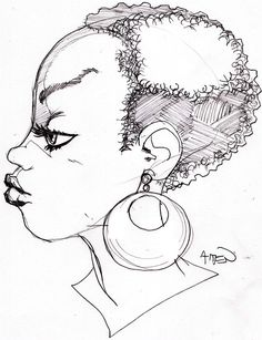 another girl with an afro by samax.deviantart.com on @DeviantArt