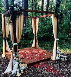 Церемония регистрации в усадьбе Середниково, wedding ceremony, свадебная арка, выездная регистрация