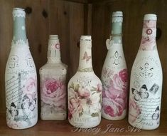 Found on Google from allevents.in. decoupage bottles