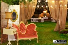 Fun photo booth setting idea; maybe I could have the guests take their own photos so as not to worry about rentals...
