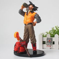 Classic Anime Dragon Ball Son goku Figurine Gokou Drink water Ver. PVC collection Model figure 20CM