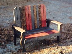 3 Pallets Bench #Bench, #Pallet