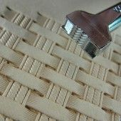 Leather Stamping Tool - Double Rope Basket Weave Stamp