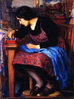 The Athenaeum - Blue Thread (Joseph Kleitsch - )