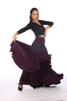 TRIANA Skirt, Flamencita design, Professional spanish Flamenco classic skirt .Size  S , M , L