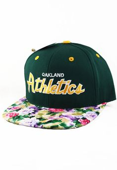 99e2cd475cae0 Oakland Athletic As Custom Watercolor Floral by AgoraSnapbacks