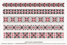 motiv de camasa barbateasca Cross Stitch Borders, Cross Stitch Designs, Cross Stitch Patterns, Folk Embroidery, Embroidery Designs, Loom Beading, Beading Patterns, Wedding Album Design, Palestinian Embroidery