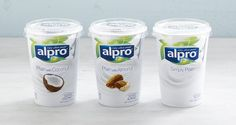 Alpro has announced the launch of two new varieties to its soya alternative to yogurt range, in an attempt to enhance its position within the plant-based category. Yogurt Packaging, Dairy Packaging, Cool Packaging, Beverage Packaging, Beauty Packaging, Packaging Design, Coconut Varieties, Food And Beverage Industry, Recovery Food