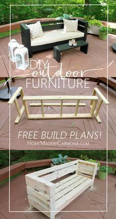 Superb Learn How To Easily Build Your Own Outdoor Sofa And Coffee Table/Bench Part 31