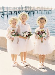 Flower girl cuteness:  http://www.stylemepretty.com/2016/04/07/the-ultimate-autumn-seaside-wedding/ | Photography: Judy Pak - http://judypak.com/