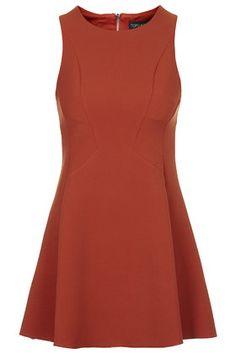 TopShop PETITE Sleeveless Seam Detail Flippy Dress $90