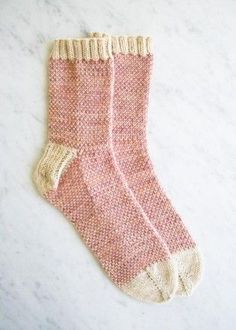 Pixel Stitch Socks | The Purl Bee - free toe-up pattern