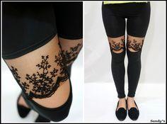 Lace Ankle Leggings